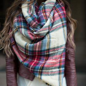 Soft Blanket Scarf Plaid Winter Fall Festive